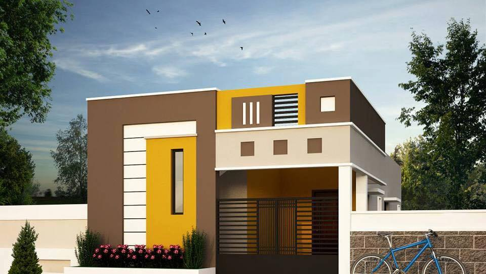 Attirant A Small Modern Contemporary House Designed To Be Build In 626 SQ FT Has A  Very Good Designed Exterior With A Good Color Combinations .